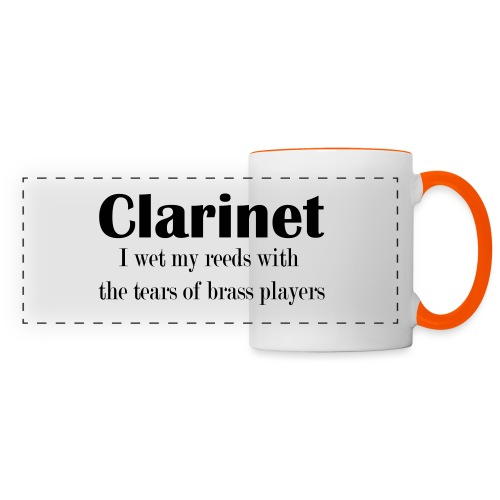 Clarinet, I wet my reeds with the tears - Panoramic Mug