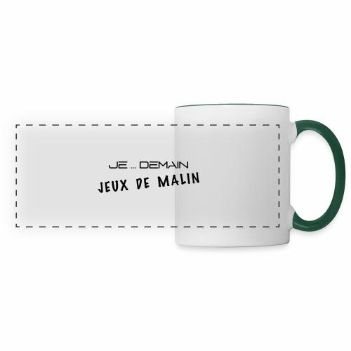 JE ... DEMAIN Jeux de Malin - Mug panoramique contrasté et blanc
