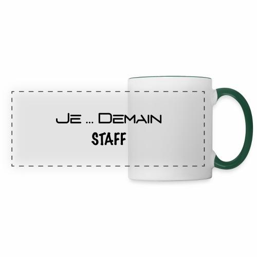 JE ... DEMAIN STAFF - Mug panoramique contrasté et blanc