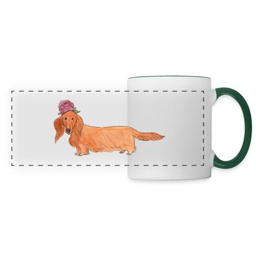 dachshund with flower - Panoramakrus