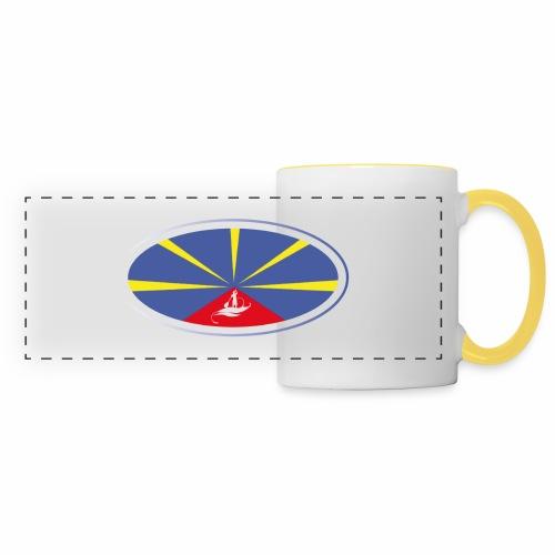 Paddle Reunion Flag - Mug panoramique contrasté et blanc