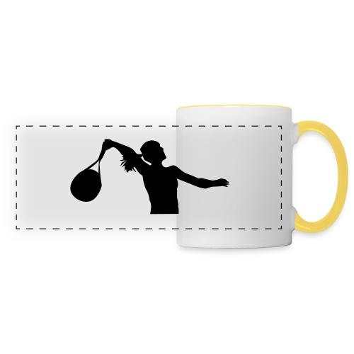 tennis silouhette 6 - Mug panoramique contrasté et blanc