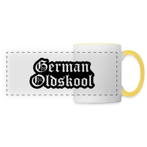 Grand Logo German Oldskool Official - Mug panoramique contrasté et blanc