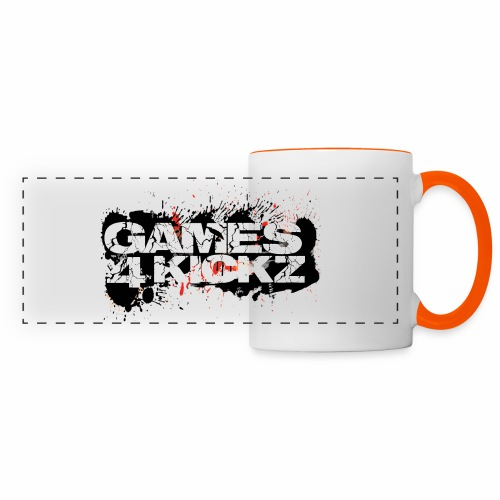 Games4Kickz Logo Splattered Background - Panoramic Mug