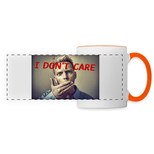I don't care shirt - Panoramic Mug