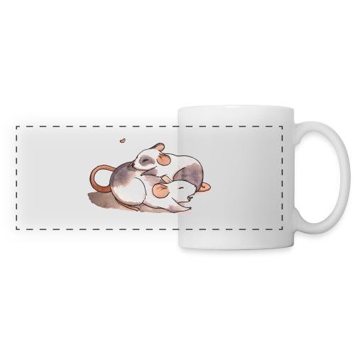 Mice cuddling - Panoramic Mug