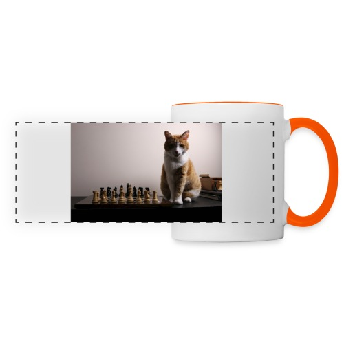 Charlie and his chess board - Panoramic Mug