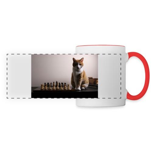 Charlie and his chess board - Panoramic Mug