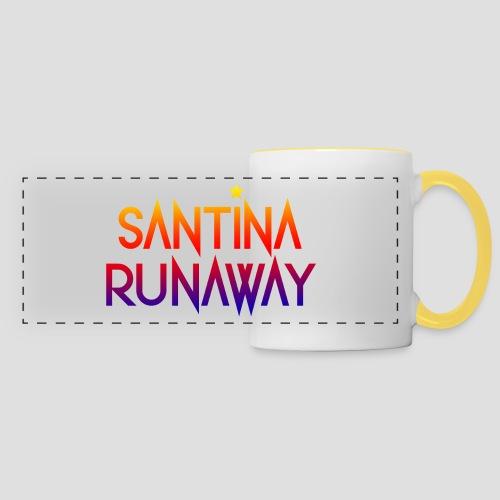 DJ Santina Runaway - Logo - Colorful like Priest - Panoramic Mug