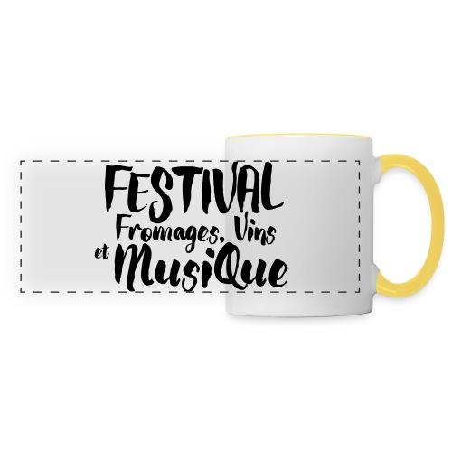 Festival FVM - Mug panoramique contrasté et blanc