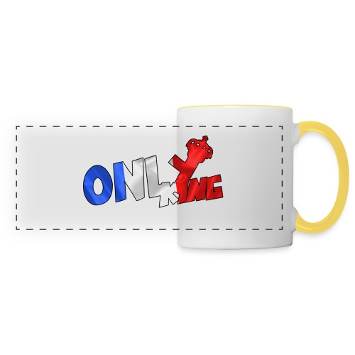 Logo ONLY KING edition francaise - Mug panoramique contrasté et blanc
