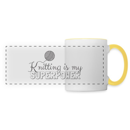Knitting Is My Superpower - Panoramic Mug