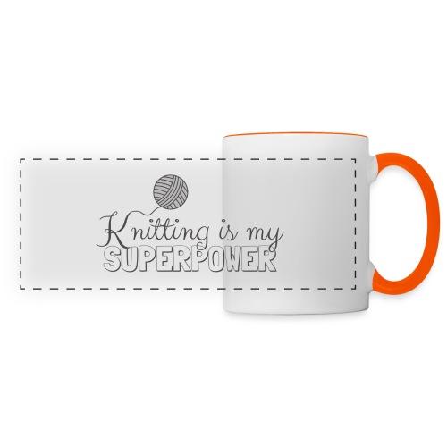 Knitting Is My Superpower - Panoramic Mug