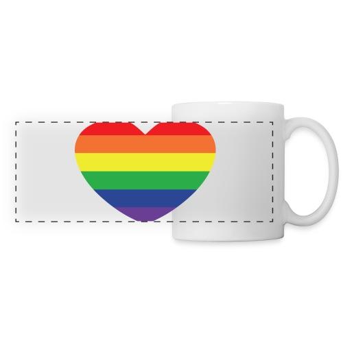 Rainbow heart - Panoramic Mug