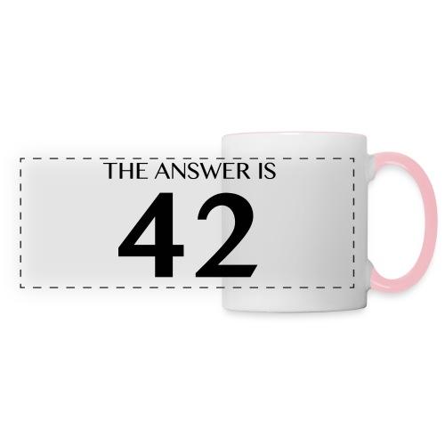 The Answer is 42 Black - Panoramic Mug