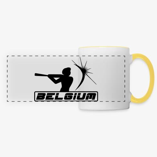 Belgium 2 - Mug panoramique contrasté et blanc