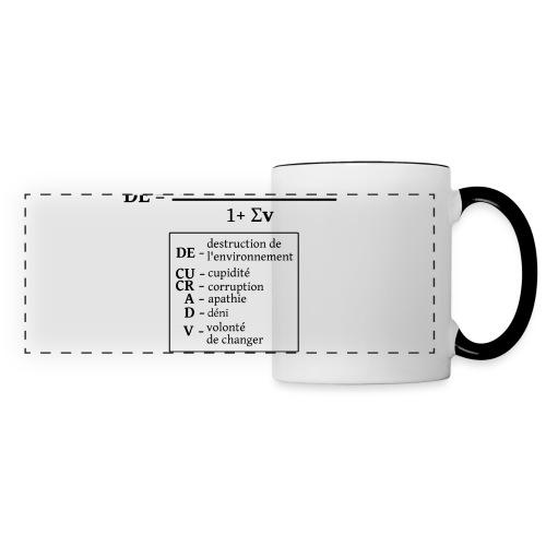 Formule de la destruction de l'environnement - Mug panoramique contrasté et blanc