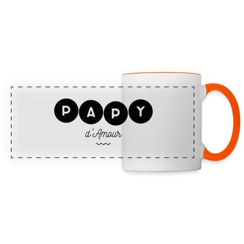 Papy d amour - Mug panoramique contrasté et blanc