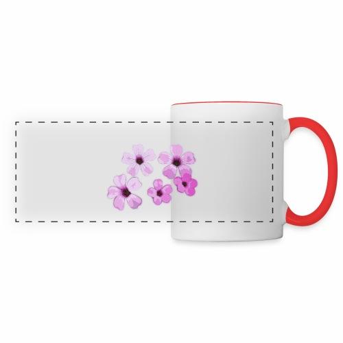 Blumen violett - Panoramatasse