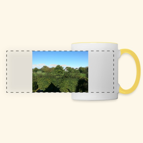 Jolie temps ensoleillé - Mug panoramique contrasté et blanc