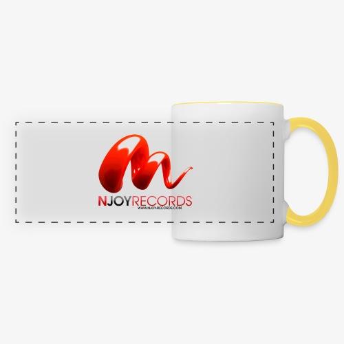 Logo Njoy Records Noir - Mug panoramique contrasté et blanc