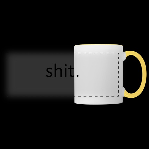shit. - black - Panoramic Mug