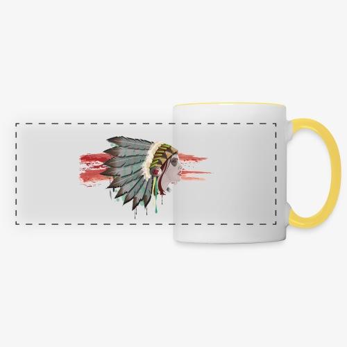 Native american - Mug panoramique contrasté et blanc