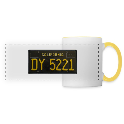 CALIFORNIA BLACK LICENCE PLATE - Panoramic Mug
