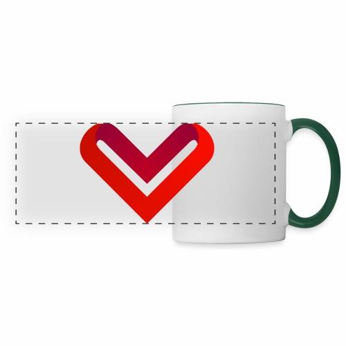 Coeur de V - Mug panoramique contrasté et blanc