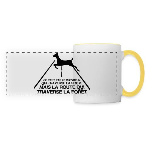 Chevreuil - Mug panoramique contrasté et blanc