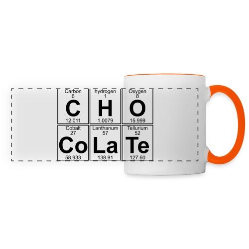 C-H-O-Co-La-Te (chocolate) - Full - Panoramic Mug