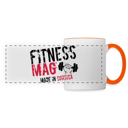 Fitness Mag made in corsica 100% Polyester - Mug panoramique contrasté et blanc
