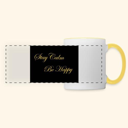 Be Happy - Mug panoramique contrasté et blanc