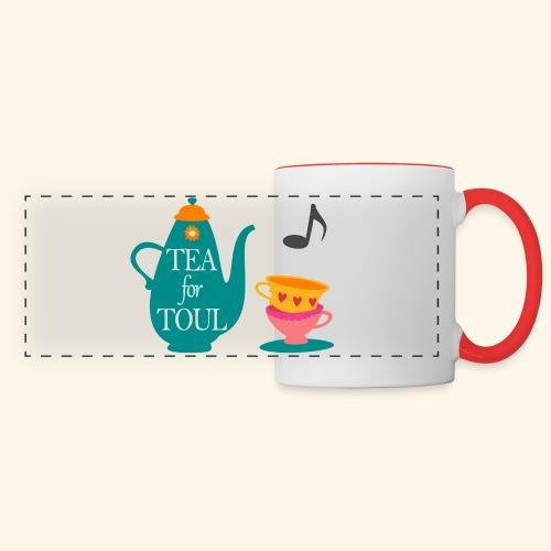 Tea for Toul - Mug panoramique contrasté et blanc