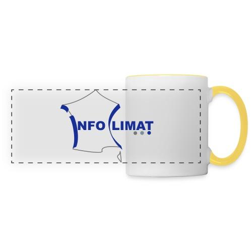 logo simplifié - Mug panoramique contrasté et blanc