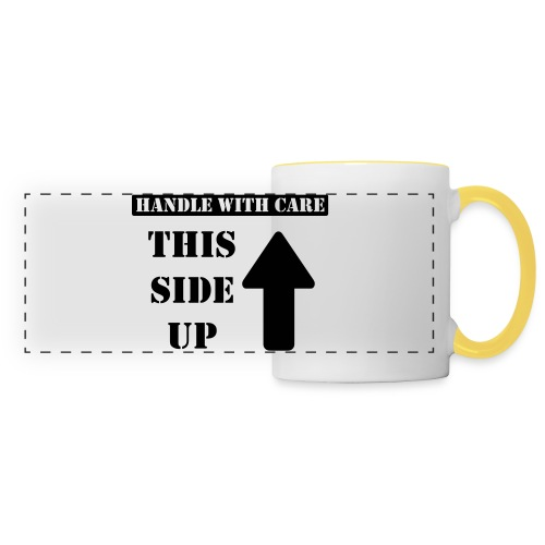 Handle with care / This side up - PrintShirt.at - Panoramatasse