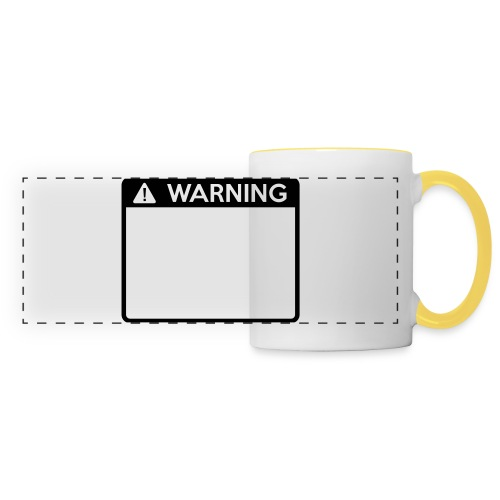 Warning Sign (1 colour) - Panoramic Mug