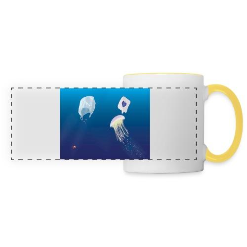 Meduse in Love - Mug panoramique contrasté et blanc