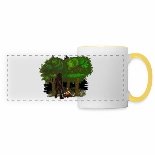 Bigfoot Campfire Forest - Panoramic Mug