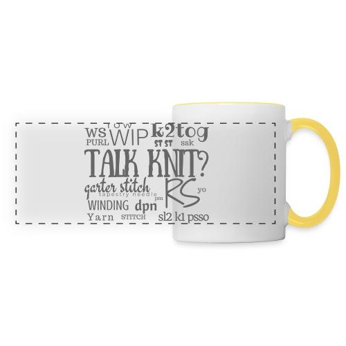 Talk Knit ?, gray - Panoramic Mug