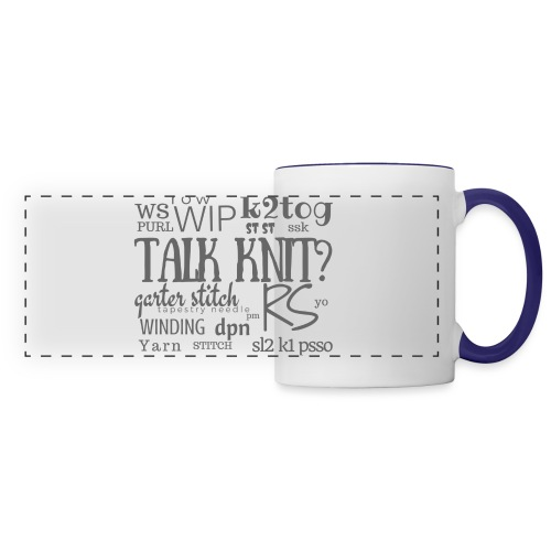 Talk Knit ?, gray - Panoramic Mug