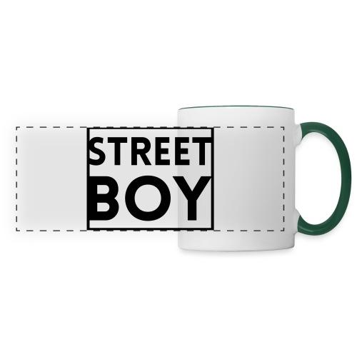 street boy - Mug panoramique contrasté et blanc