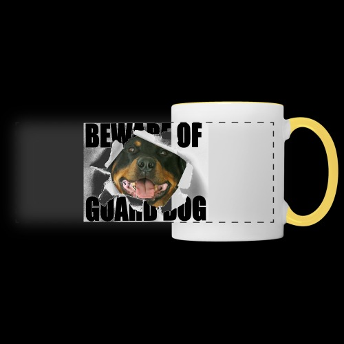 beware of guard dog - Panoramic Mug