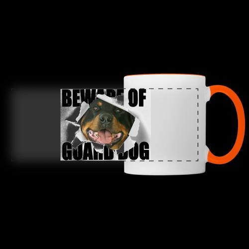 beware of guard dog - Panoramic Mug