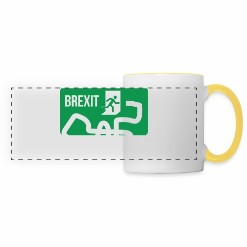 Brexit Exit Sign - Panoramic Mug