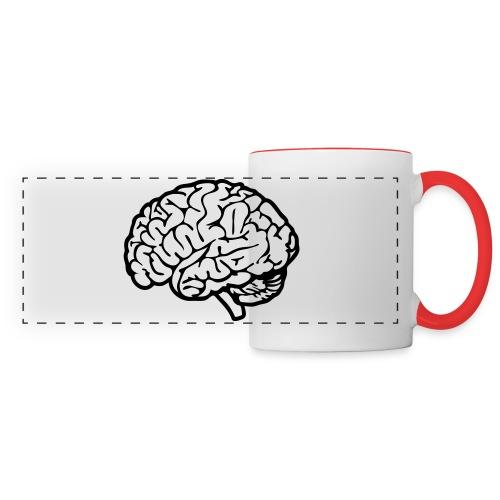 cerveau - Mug panoramique contrasté et blanc