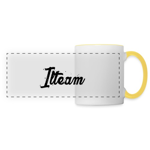 Ilteam Black and White - Mug panoramique contrasté et blanc
