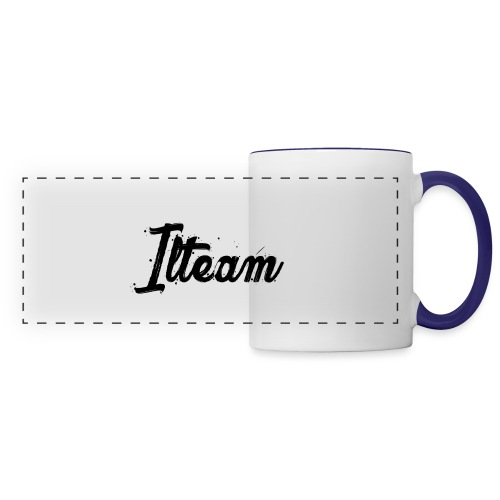 Ilteam Black and White - Mug panoramique contrasté et blanc
