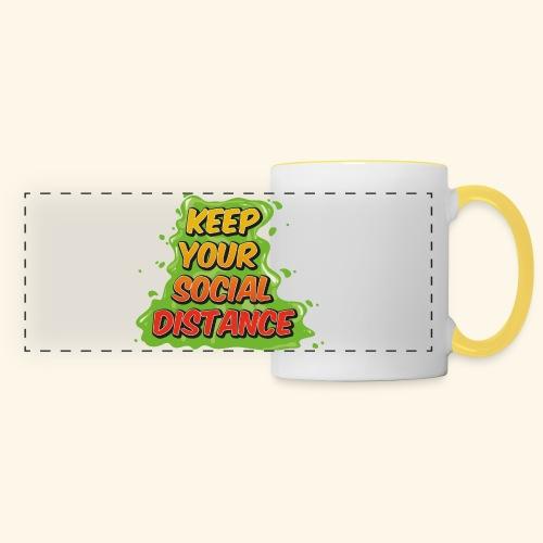 Keep your social distance - Mug panoramique contrasté et blanc