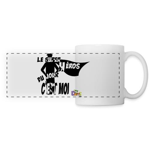 Anniversaire Super Heros (B) - Mug panoramique contrasté et blanc